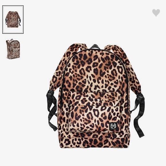 803acce3d6e4 PINK Victoria's Secret Bags   Vs Pink Cheetah Backpack   Poshmark